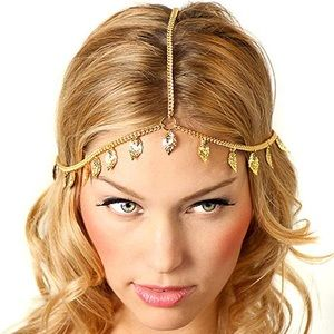 LittleB Gold Leaves head piece/chain New